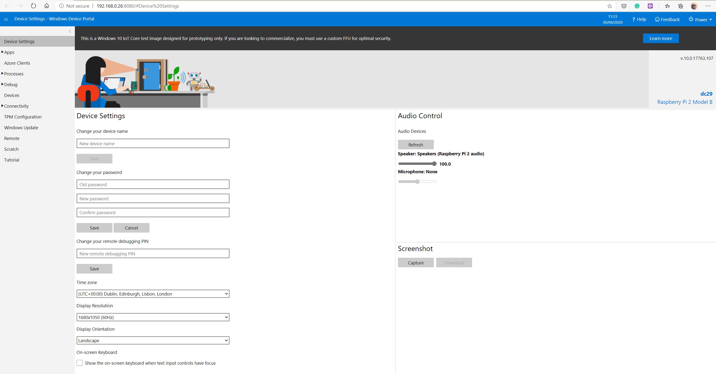 IoT Dashboard Portal
